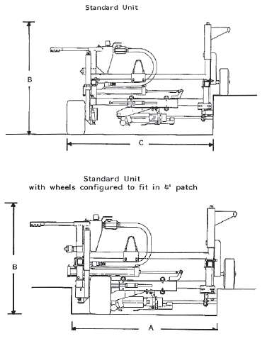 E-Z Drill 210B-2 on-grade concrete dowel pin drill specifications