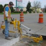 Roadway patch repair drill