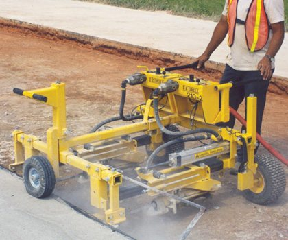 two-gang drill on-grade concrete dowel drill