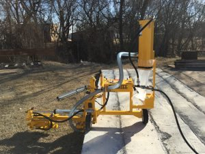 E-Z Drill 240B SRA slab rider concrete drill dust-collection-system