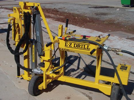 Slab rider portable concrete core drill