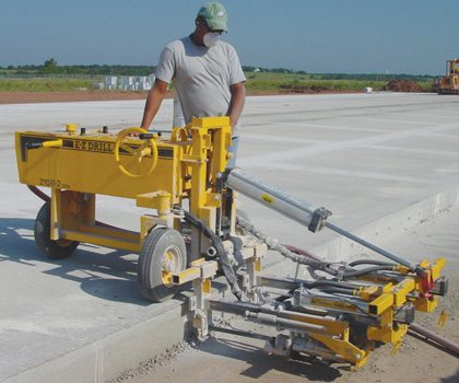 full depth road repair patch with concrete drill