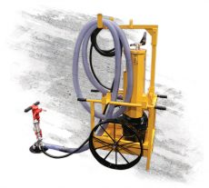E-Z Drill handheld pneumatic drill dust collection cart