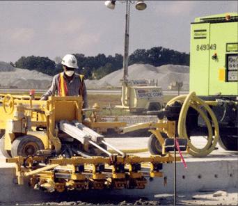 E-Z Drill 210-5 SRA slab rider concrete dowel pin drill airports
