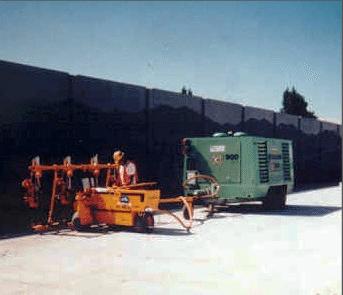 E-Z Drill 210-5 SRA slab rider concrete dowel pin drill vertical-drilling