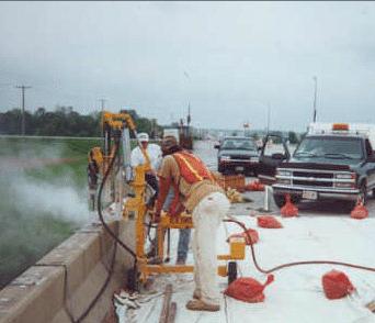 E-Z Drill 210B SRAslab rider concrete drill modified-mast