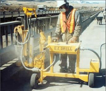 E-Z Drill 210B SRAslab rider concrete drill vertical-drilling