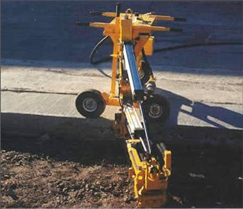 E-Z Drill 240B SRA slab rider concrete drill Skew Drilling