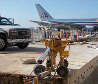 E-Z Drill 240B SRA slab rider concrete drill airports