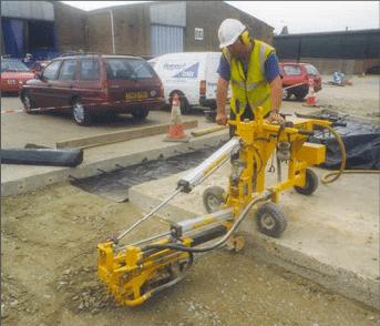 E-Z Drill 240B SRA slab rider concrete drill full-depth-repair