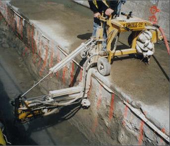 E-Z Drill 240B SRA slab rider concrete drill mast-extension