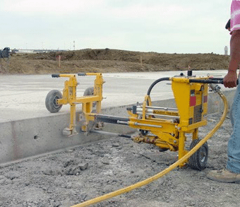 E-Z Drill 240B on-grade concrete drill airport-and-lane-additions