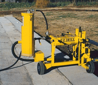 E-Z Drill 240B on-grade concrete drill dust-collection