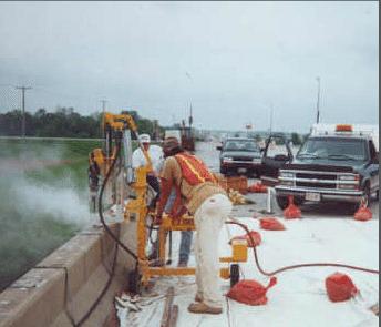 E-Z Drill 240B SRA slab rider concrete drill modified-mast