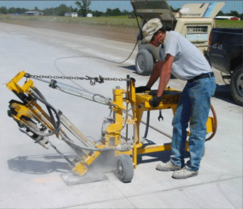 E-Z Drill 240B SRA slab rider concrete drill stitching