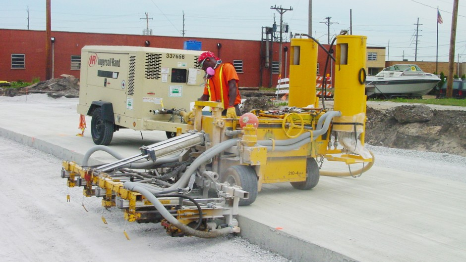concrete dowel drilling machine